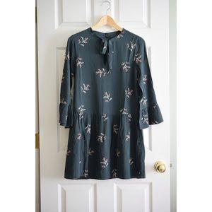 Madewell Drop Waist Silk Dress